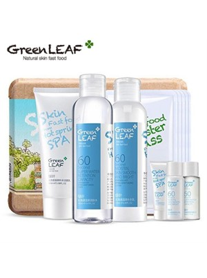 绿叶北海道温泉补水保湿12件套 Green LEAF Hot Spring Spa Moisture Replenishment Set